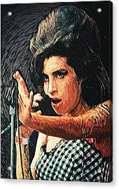 Amy Winehouse Acrylic Print by Taylan Soyturk