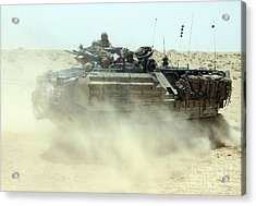 An Amphibious Assault Vehicle Kicks Acrylic Print by Stocktrek Images