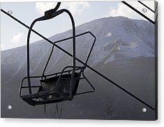 An Empty Chair Lift At A Ski Resort Acrylic Print by Tim Laman