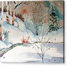 An Icy Winter Acrylic Print by Mindy Newman