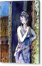 An Italian Violet Acrylic Print by Mindy Newman