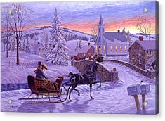 An Old Fashioned Christmas Acrylic Print by Richard De Wolfe