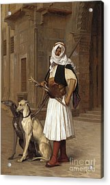 Anaute Avec Deux Chiens Whippets, 1867 Acrylic Print by Jean Leon Gerome