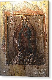Ancient Virgin Of Guadalupe - Ex-convento Yuriria Acrylic Print by Mexicolors Art Photography