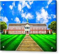 Old Main - Andalusia High School Acrylic Print by Mark E Tisdale