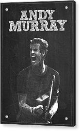 Andy Murray Acrylic Print by Semih Yurdabak