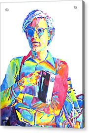 Andy Warhol - Media Man Acrylic Print by David Lloyd Glover