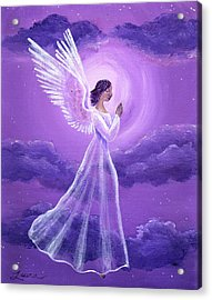 Angel In Amethyst Moonlight Acrylic Print by Laura Iverson