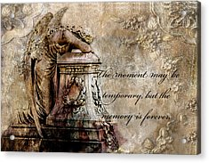 Angel Laying On Coffin Inspirational Angel Art Acrylic Print by Kathy Fornal