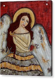 Angel Of Kindness Acrylic Print by Rain Ririn