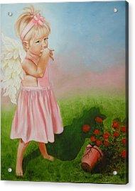 Angel Thumbs Acrylic Print by Joni McPherson