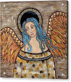 Angelica Acrylic Print by Rain Ririn