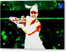 Angelique Kerber 3c Acrylic Print by Brian Reaves