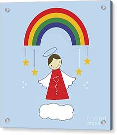 Angels And Rainbows Acrylic Print by Kathrin Legg