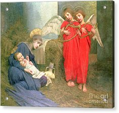 Angels Entertaining The Holy Child Acrylic Print by Marianne Stokes