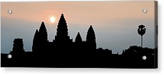 Angkor Wat Sunrise Acrylic Print by Dave Bowman