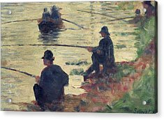 Anglers Acrylic Print by Georges Pierre Seurat