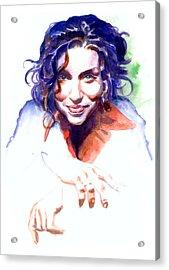 Ani Difranco Acrylic Print by Ken Meyer jr