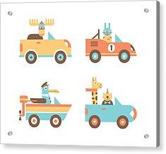Animal Cars Acrylic Print by Mitch Frey