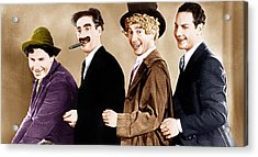 Animal Crackers, From Left Chico Marx Acrylic Print by Everett
