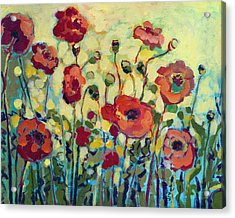 Anitas Poppies Acrylic Print by Jennifer Lommers