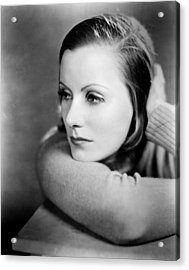Anna Christie, Greta Garbo, 1930 Acrylic Print by Everett