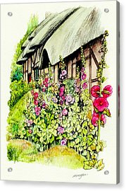Anne Hathaway Cottage Acrylic Print by Morgan Fitzsimons