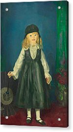 Anne With A Japanese Parasol Acrylic Print by George Bellows