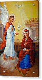 Annunciation Of The Lord - Annuntiatio Domini  Acrylic Print by Svitozar Nenyuk