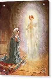 Annunciation Acrylic Print by William Brassey Hole