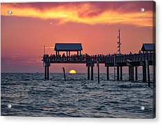 Another Day In Paradise On Clearwater Beach Acrylic Print by Bill Cannon