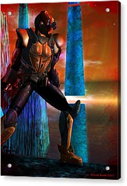 Another Super Hero Acrylic Print by Monroe Snook