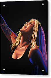 Anouk In Concert Painting Acrylic Print by Paul Meijering