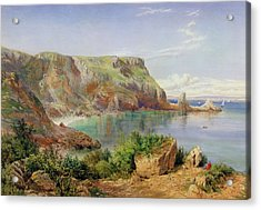 Ansty's Cove Acrylic Print by John William Salter