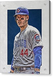 Anthony Rizzo Chicago Cubs 3 Acrylic Print by Joe Hamilton