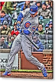 Anthony Rizzo Chicago Cubs Acrylic Print by Joe Hamilton
