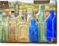 Antique Bottles Acrylic Print by Tamera James