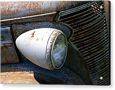 Antique Car Headlight Acrylic Print by Douglas Barnett