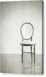 Antique Chair With Grunge Style Background Acrylic Print by Sandra Cunningham