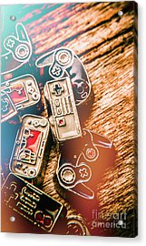 Antique Gaming Consoles Acrylic Print by Jorgo Photography - Wall Art Gallery