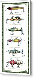 Antique Lure Panel Acrylic Print by JQ Licensing