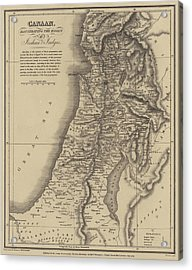 Antique Map Of Canaan Acrylic Print by English School