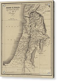 Antique Map Of Judah And Israel Acrylic Print by English School