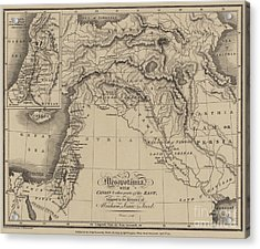 Antique Map Of Mesopotamia With Canaan And Other Parts Of The Middle East Acrylic Print by English School