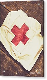 Antique Nurses Hat With Red Cross Emblem Acrylic Print by Jorgo Photography - Wall Art Gallery