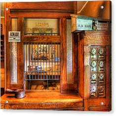 Antique Post Office At The General Store -  Acrylic Print by Lee Dos Santos