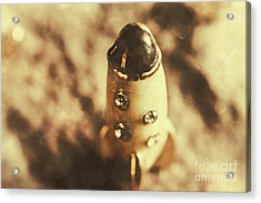 Antique Rocket Ship On Faded Asteroid Acrylic Print by Jorgo Photography - Wall Art Gallery