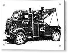 Antique Tow Truck Acrylic Print by Sheryl Unwin
