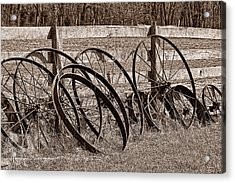 Antique Wagon Wheels I Acrylic Print by Tom Mc Nemar