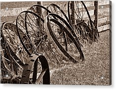 Antique Wagon Wheels II Acrylic Print by Tom Mc Nemar